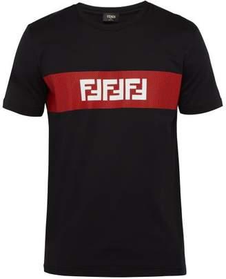 Fendi Ff Logo-print Cotton T-shirt - Mens - Black Multi