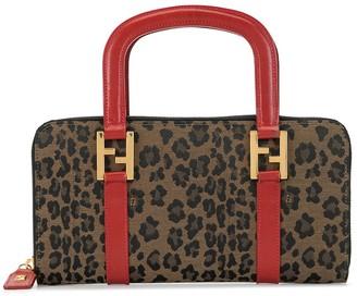 Fendi Pre Owned Leopard Print Tote Bag