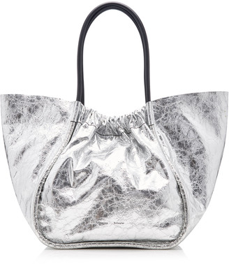 Proenza Schouler Ruched Metallic Leather Tote Bag