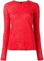 Proenza Schouler splatter print longsleeved T-shirt - women - Cotton - L