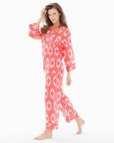 Soma Intimates Batik Cotton Pajama Set Coral