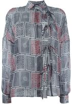 Maison Margiela sheer printed shirt