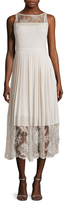 Tracy Reese Lace Insert Midi Dress