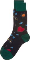 Vivienne Westwood Navy Heart and Eye Socks One Size
