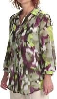 Louben Cotton-Silk Shirt - Long Roll-Up Sleeve (For Women)