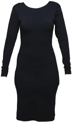 Non+ Non392 Black Low-Cut Dress