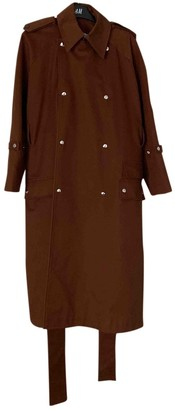Acne Studios Brown Cotton Trench Coat for Women