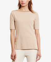 Lauren Ralph Lauren Petite Striped Stretch T-Shirt