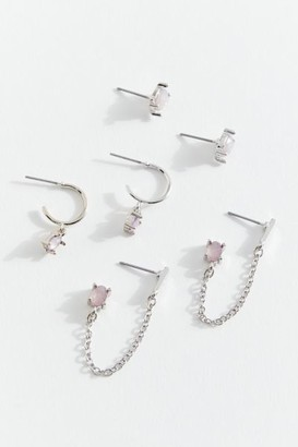 Urban Outfitters Gemma Post And Hoop Earring Set