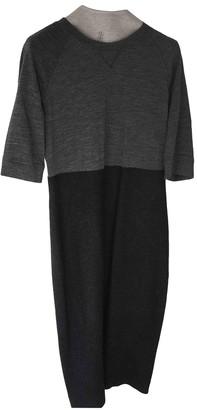 Brunello Cucinelli Grey Wool Dresses