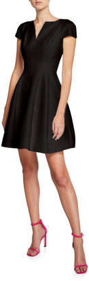 Halston Maggie Short Fit-&-Flare Dress