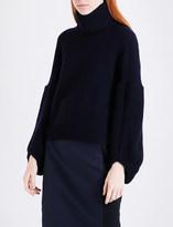 Antonio Berardi Button-back wool and cashmere-blend jumper