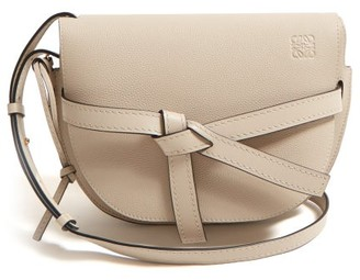 Loewe Gate Small Grained-leather Cross-body Bag - Womens - Grey