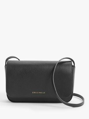 Coccinelle Annetta Mini Leather Shoulder Bag, Noir