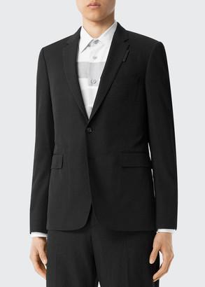 Burberry Men's Wool-Blend Suit Jacket w/ Lapel Tag