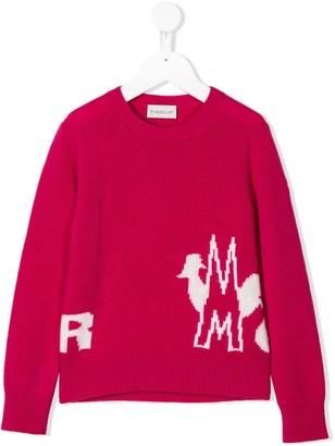 Moncler Enfant Jacquard Logo Knitted Sweater
