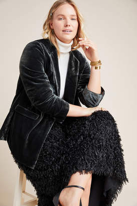 Anthropologie Alessia Velvet Plus Blazer
