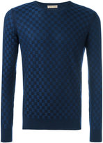 Cruciani checked jumper - men - Silk/Cashmere - 48