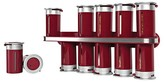Zevro Zero Gravity Wall-Mount 12 Canister Magnetic Spice Rack - Red