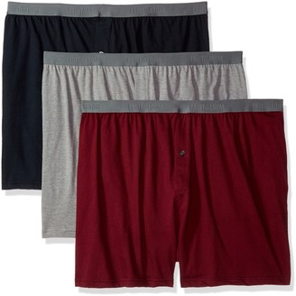 Fruit of the Loom Men's 3-Pack Premium Big Man Knit Boxer