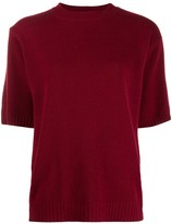 Chinti and Parker ribbed-knit short-sleeve top