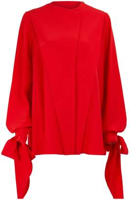Givenchy Long sleeves cr√TMpe blouse
