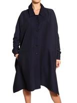 Vionnet Silk Viscose Crepe Jersey A-Line Coat