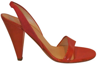 Christian Dior Orange Patent leather Sandals