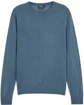 Tiger Of Sweden Marts Blue Fine-knit Wool Jumper