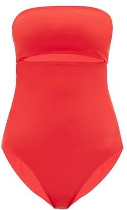 JADE SWIM Highlight Strapless Cutout Swimsuit - Womens - Red