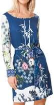 Hale Bob Malene Satin-Wave Dress