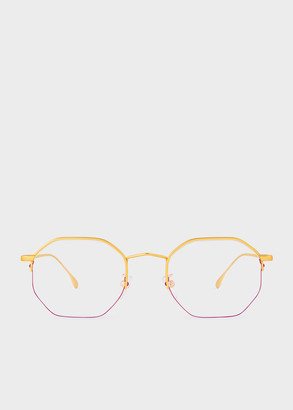 Paul Smith Matte Gold 'Brompton' Spectacles