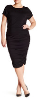 Vince Camuto Short Sleeve Rouched Dress (Plus Size)