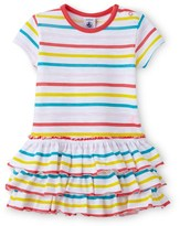 Petit Bateau Baby girl multicolor sailor-striped dress