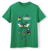 Classic Boys Husky Metallic Graphic Tee-Caribbean Green Bugs