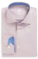 Bugatchi Men's Trim Fit Microcheck Dress Shirt