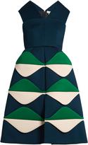 DELPOZO V-neck sleeveless neoprene bell dress