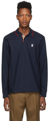 Burberry Navy Monogram Walton Polo