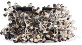 Etro Satin, Bead And Crystal Bracelet - Black