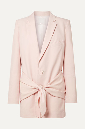 Tibi Oversized Twill Blazer - Baby pink