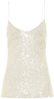 Galvan Moonlight sequined bridal camisole