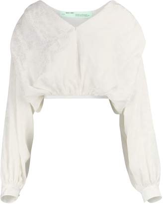Off-White Off White Logo cropped shirt