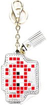 Anya Hindmarch 'Space Invader' keyring - women - Goat Skin/metal - One Size