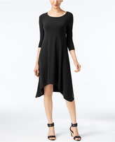 Alfani Petite Knit Handkerchief-Hem Dress, Only at Macy's