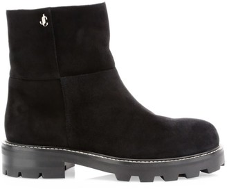Jimmy Choo Haysel Shearling-Lined Booties