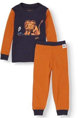 Eric Carle Baby & Toddler Girl Long Sleeve Cotton Snug Fit Pajamas, 2Pc Set