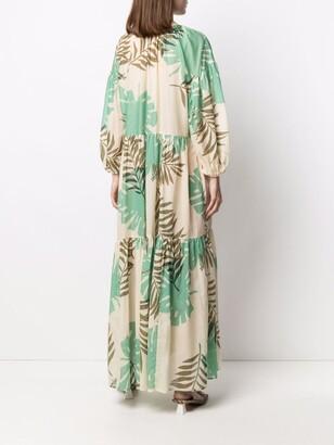 Anjuna Elle foliage-print smock dress