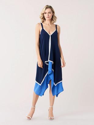 Diane von Furstenberg Wren Silk Crepe de Chine Midi Dress