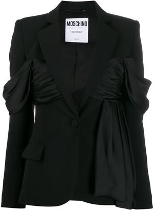 Moschino Ruffle-Detail Blazer Jacket