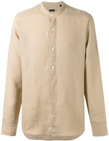 Z Zegna plain shirt - men - Linen/Flax - L